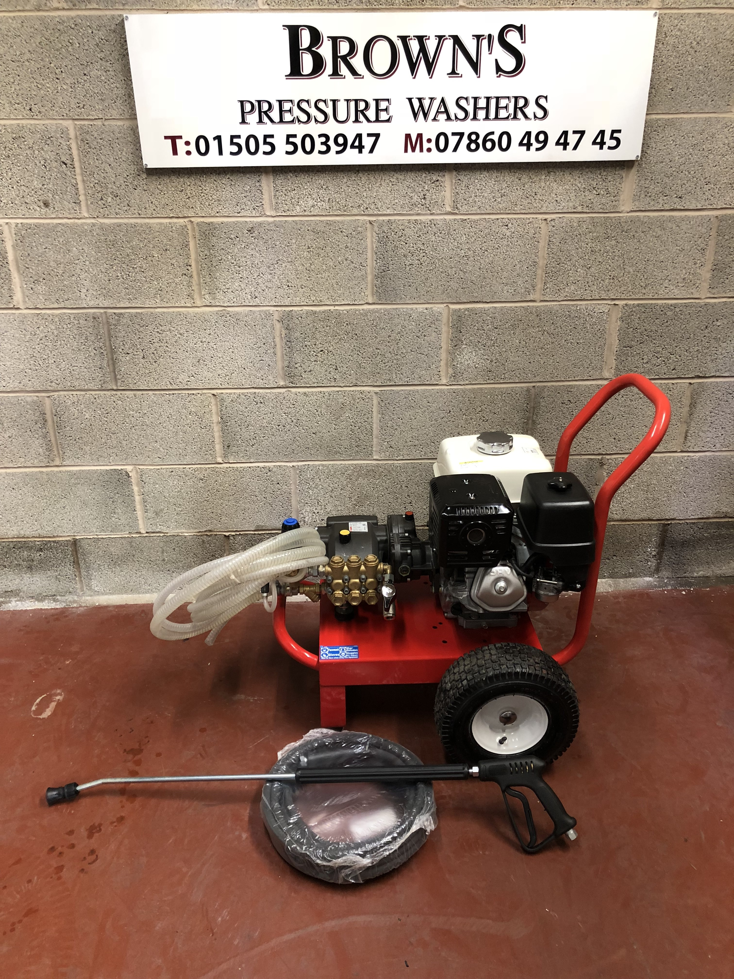 honda gx petrol cold  pressure washer  machine